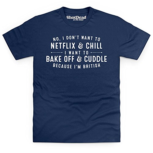 Bake Off and Cuddle T-Shirt, Herren Dunkelblau