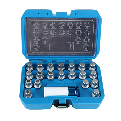 BELEY 21-teiliges Radschloss Schlüssel Demontage Kit für BMW und Mini Serie, Raddiebstahlsicherung Sicherungsmuttern Schrauben-Entferner Steckschlüssel-Set mit 1/2 Zoll (12,7 mm) Stecknuss-Adapter