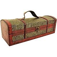 Rustico in legno anticato vino Forziere scatola 35cm