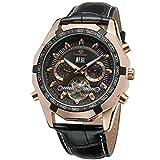 Forsining, orologio da polso per uomo carica automatica con calendario, cinturino in pelle Tourbillon, FSG340 M3T3
