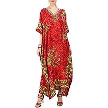 34e1ae49187db Miss Lavish London Femmes Kaftan Tunique Kimono Grande taille Robe pour  Loungewear Vacances Nuit Vêtements Plage