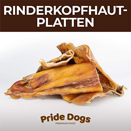 PrideDogs Rinderkopfhautplatten 1000g der Premium Kausnack für Ihren Hund | 100% Rind aus Deutscher Herstellung | im geruchsneutralen Beutel | Kauartikel. -