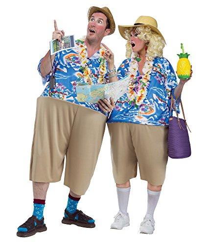 Witziges Urlauber Kostüm für Erwachsene (Tourist Halloween Kostüm)