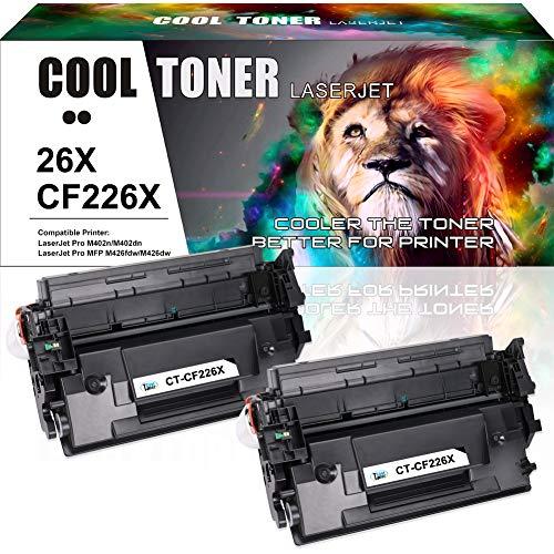 Cool Toner 2 Pack Kompatibel für CF226X CF226A 26A 26X Toner für HP Laserjet Pro MFP M426FDW M426FDN M426DW M402DN M402D M402N M402dw Laserdrucker
