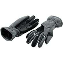 infactory Leuchtende Handschuhe: Kuschelige Fleece-Handschuhe mit LED-Beleuchtung, grau Gr. L (Handschuhe mit Taschenlampe)
