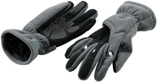 infactory Beleuchtete Handschuhe: Kuschelige Fleece-Handschuhe mit LED-Beleuchtung, Gr. XL (Paar LED-Handschuhe) (Mini Unisex Handschuh)