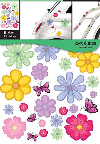 Auto-Fahrrad aufkleber Blumen -