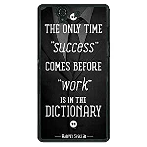 Jugaaduu SUITS Quotes Back Cover Case For Sony Xperia Z
