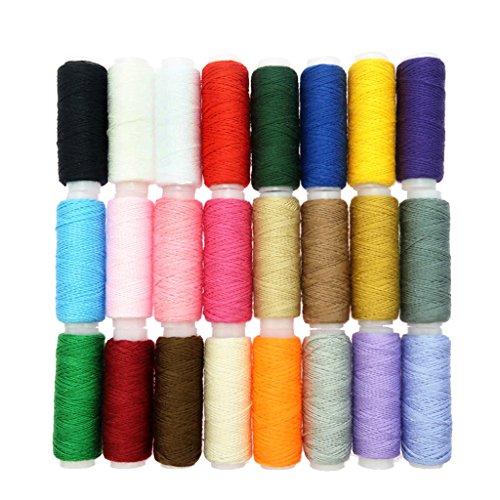 Homyl Bobines de Fil de Couture de Polyester de 24 Rouleaux Parfaits Pour Tous Types de Couture à Courtepointe