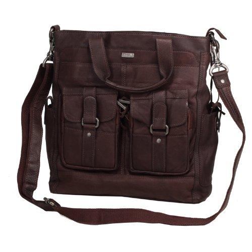 Spikes & Sparrow Savannah Handtasche Leder 31,5 cm chocolate
