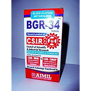 Artcollectibles India 3 Packs Of Bgr-34 Tablets 100% Natural Herbal Blood Glucose Metaboliser Research Product Of C.S.I.R