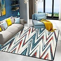 HYRL Alfombra nórdica Abstracta geométrica, 3D Impreso Alfombra de Gran tamaño para casa Moderna Vida Alfombra Espesar Sala de Estar alfombras Arte Decor,#2,140200