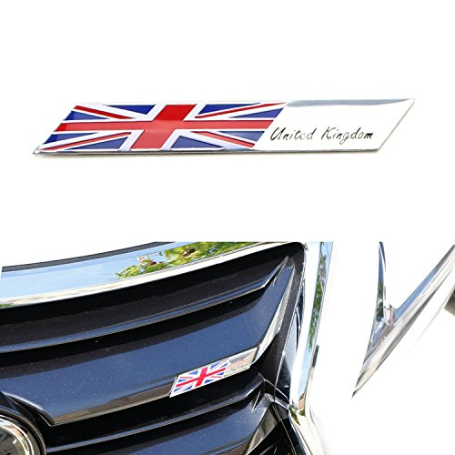 iJDMTOY Car Self Adhesive Decorative Flag Badge automotive-decorative-emblems
