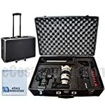 """"""" bull Professional Extra Large Hard Case is perfect for protecting your equipment. It features an aluminum alloy frame with steel corners and high impact ABS plastic side panels reinforced construction handle 2 locking clasps and 2 dividers. It also..."""