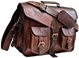 Last DAY - SALE Clearance 2019! Shakun Leather Handmade Genuine Vintage Leather Messenger Man Business Laptop Briefcase Satchel Bag, 100% Pure Leather with Free Shipping