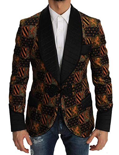 Dolce & Gabbana - Herren Jacke - Slim Knight King Velvet Jacket Size: IT48/M