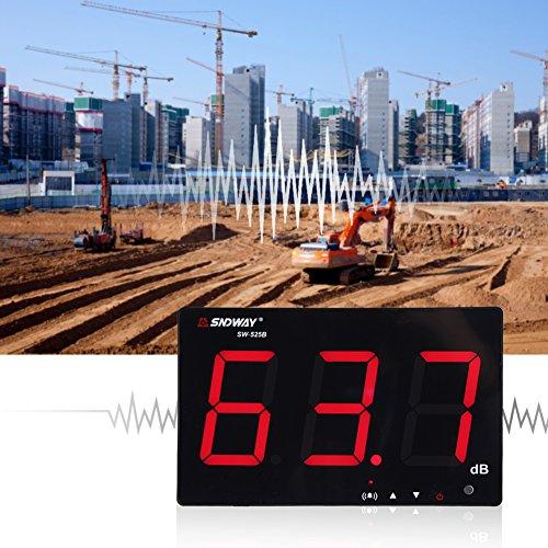 """USB-powered 9,6""""LCD Digital Schallpegelmesser Wandbehang 30-130dB Noise Tester"""