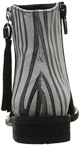 Yep Amelle 1069A, Boots fille Noir (Croute/Animal Print)