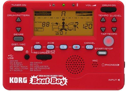 KORG BEATBOY - Afinador, grabador y caja de ritmos, color rojo