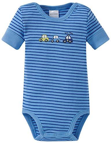 Schiesser Baby-Jungen Polizei Body 1/2 Strampler, Blau (Blau 800), 62 (Herstellergröße: 062)