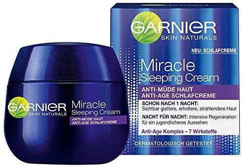 2 x Garnier Miracle Sleeping Cream / Nachtcreme Anti-Age Schlafcreme je 50 ml/ Anti-Müde Haut