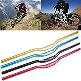 OUTAD Fahrrad Lenker Downhill-Lenker Aluminium Mountainbike Riser 31,8 mm (Rot, 780mm)