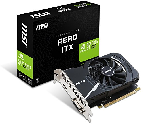 MSI-GeForce-GT-1030-Aero-ITX-2G-OC-2GB-Nvidia-GDDR5-1x-HDMI-SL-DVI-D-2-Slot-Mini-PC-Afterburner-OC-Grafikkarte