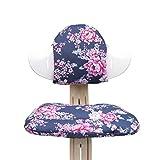 Blausberg Baby - Sitzkissen Set für Nomi Hochstuhl von Evomove - Happy Flower Blau