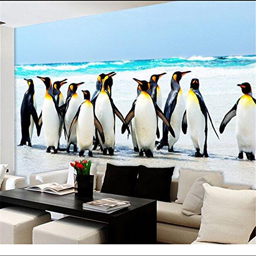 Lqwx  Pinguin Schnee Tier Wandmalereien 3 Dstereoscopic Fernseher, Schlafzimmer Hintergrund für...