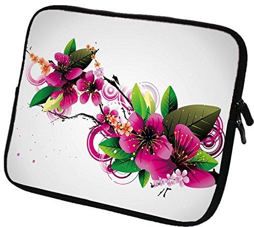 """6 Zoll eBook-Reader (z.B. Amazon Kindle Paperwhite / Voyage / Oasis, Tolino Shine 2HD / Vision 3 HD, Kobo Glo HD / Aura, Icarus Ilumina HD, PocketBook Basic 2, Sony PRS-T3) Schutzhülle - sehr hochwertige & edel verarbeitete eReader Tasche aus wasserfesten Neopren mit eingenähter Doppelnaht, premium Reißverschluss und aufwendigen Designeraufdruck! Die Hülle eignet sich für eBook-Reader diverser Hersteller bis 165x120mm ( zirka 5,8"""" bis 6,3"""" )166"""