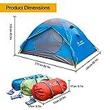 Mountaintop Trekkingzelt Zelt Minipack,Tunnelzelt Familienzelt Campingzelt für 2 Personen -