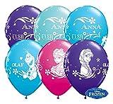 Partyklar 10 Luftballons Ballons Frozen Anna ELSA Olaf Eiskönigin bunt 26cm