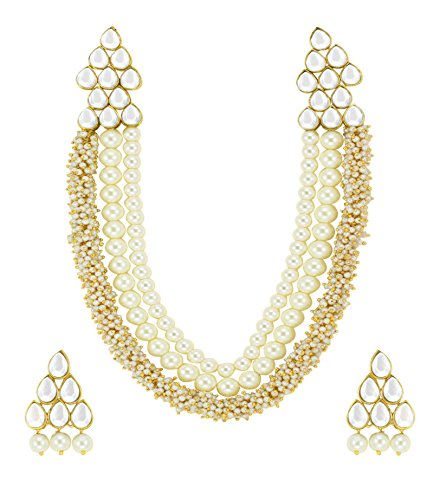 Zaveri Pearls Beautiful Pearl & Kundan Necklace Set For Women - ZPFK4788