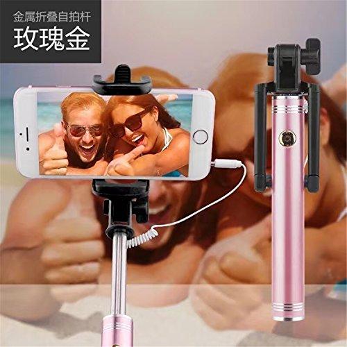 ARTLU® Selfie Stick Selfie-Stangen Ausfahrbar [ohne Akku] Kabelgebunden Stab für iPhone, Galaxy, Nexus und andere Smartphones (rose Gold)