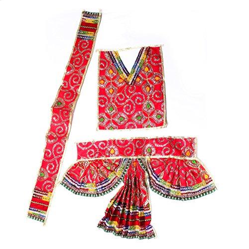 Der Heiligen Mart Hanuman Ji Silk Full Stickerei Kleid (Größe D)