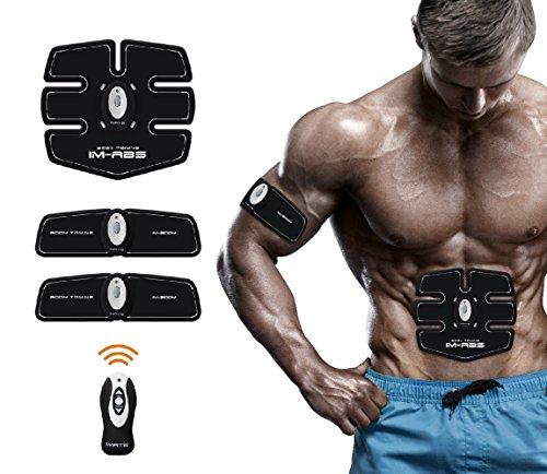 Smart Fitness Gerät Bauchmuskeln Training Elektrisch Bauchmuskeltrainer Muskelstimulation Muskelstimulator EMS Trainingsgerät Tragbare Gürtel für Männer und Frauen Wireless Fernbedienung (Taste Zucken)