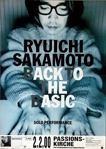 saka-moto-ryuichi-2000-poster-de-concierto-back-to-the-basic-tour-poster-b