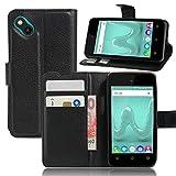 Guran® Housse En Cuir pour Wiko Sunny Smartphone Flip Cover Etui Debout Fonction et Fente Porte-cartes Cas