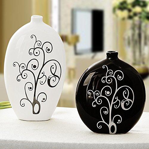 Lx.AZ.Kx Home Decor e l arte della ceramica ornamenti per decorare i nuovi vasi moderni e minimalisti vasi di fiori e risentita vasi,l'ostinata piccola nera - Nuova Casa Di Vetro Ornamento