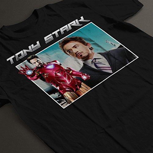 Tony Stark Iron Man Tribute Montage Women's T-Shirt Black