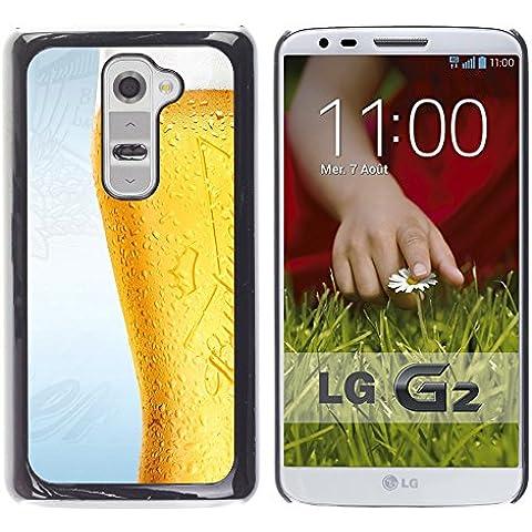 TORNADOCOVER Unico Immagine Rigida Custodia Case Cover Protezione Per SMARTPHONE LG G2 D800 D802 D802TA D803 VS980 LS980 - divertente bicchiere di birra gelido