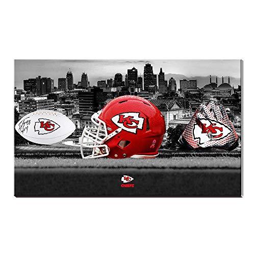 NFL Kansas City Chiefs Team Football Baumwolle Drucke Bild Wandkunst Acryl Kunstwerk Home Decor Geschenk -