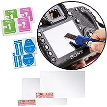Movo paquete de 2 protectores de pantallas LCD confeccionados en vidrio óptico para la cámara Sony Alpha A7 II, A7R II, A7S, A7S II, A7 Mark II - proporciona protección UV, de arañazos y polvo