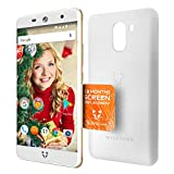 Wileyfox Swift 2 Plus Gold - 32GB + 3GB 4G SIM-Free Smartphone with Screen Replacement Card and a premium White Case