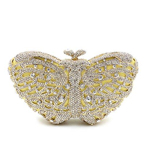 Donna di strass preferiti farfalla colorata Borse sera Wallet borsetta E