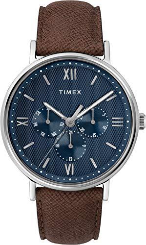 Timex Orologio Analogico Quarzo Uomo con Cinturino in Pelle TW2T35100