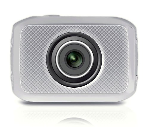 Pyle High-Definition Sport-Action Kamera (720p Weitwinkel Camcorder, 5 Megapixel, 5 cm (2 Zoll) Touchscreen, Micro SD Card Slot) mit wasserdichtes Gehäuse/Montage Ausrüstung für Biking/Reiten/Rennspiele/Skilaufen/Wassersport silber