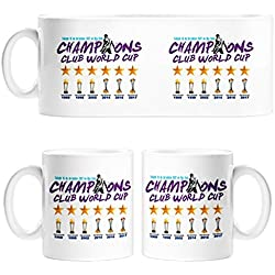 Taza Real Madrid campeón Mundial de Clubes 2017 fútbol - Cerámica