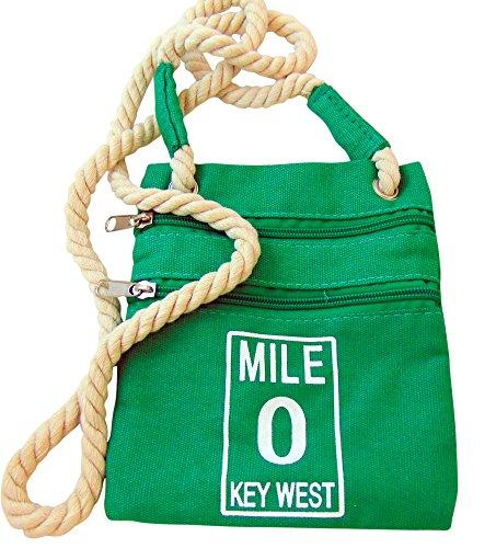 Get A Gadget Mile 0Canvas Schultertasche Spaß Urlaub Urlaub Accesory mit Key West Mile Marker Zero