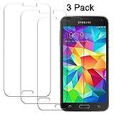 Cardana 3X bruchsicheres Panzerglas für Samsung Galaxy S5/S5 Neo | Schutzfolie aus 9H Echt Glas| angenehme Handhabung | Schutzglas Zum Schutz vor Displayschäden | blasenfreie Anbringung | 3 Stück…